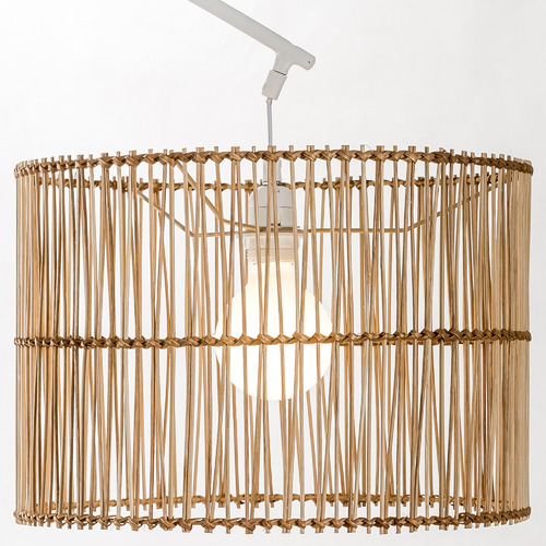 Temple & Webster Arc Rattan Floor Lamp