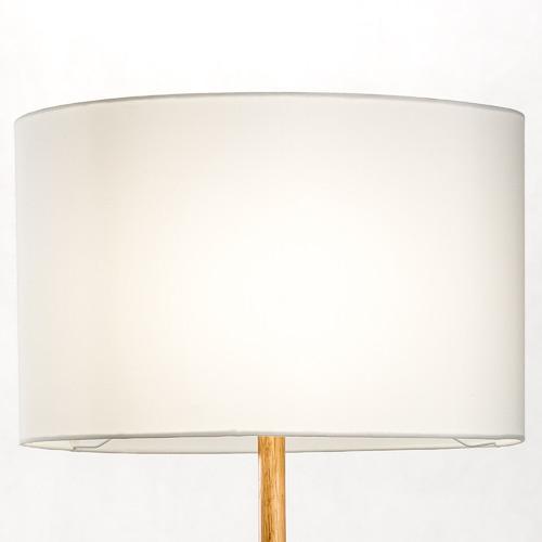 Temple & Webster Brae Rubberwood Tripod Floor Lamp