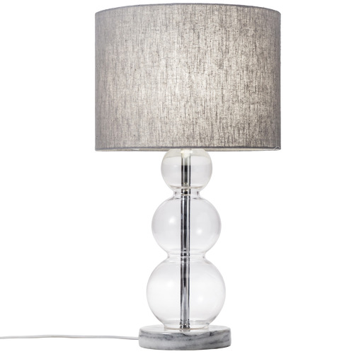 Temple & Webster Eclipse Glass & Marble Table Lamp