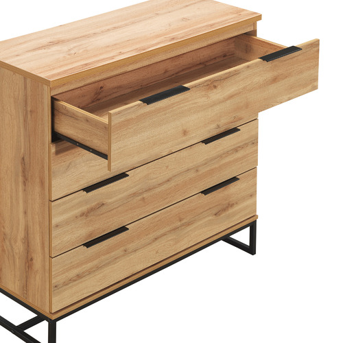 Temple & Webster Oak Finish Jackson Chest of Drawers