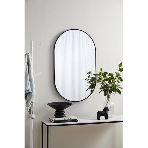 Tate Oval Metal Framed Wall Mirror