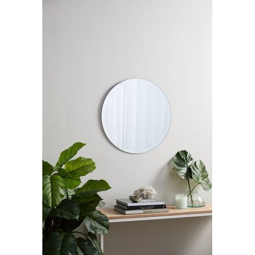 Tate Round Frameless Wall Mirror