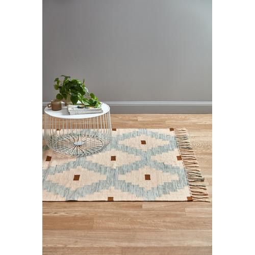 Temple & Webster Blush Nova Hand-Woven Wool Rug