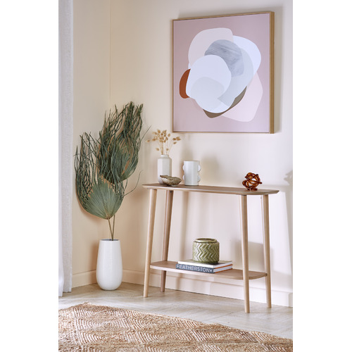 Temple & Webster Blush Peppa Framed Canvas Wall Art