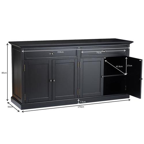 Large Black Maison Sideboard Buffet