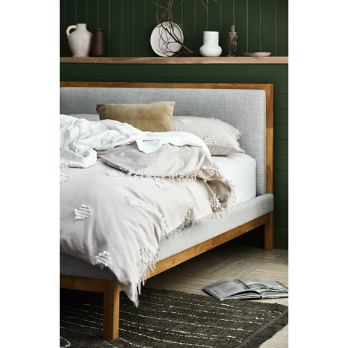 Temple & Webster Natural & Grey Stella Queen Bed