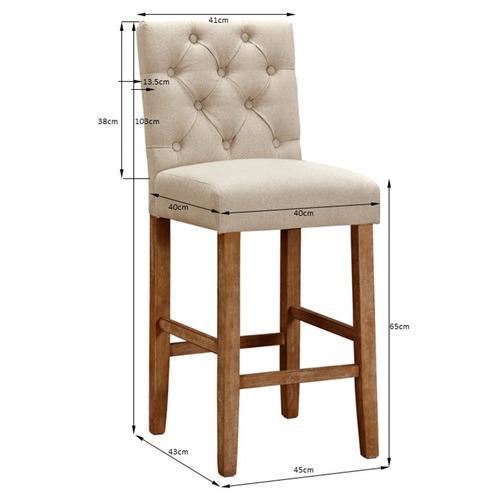 65cm Windsor Provincial Linen Barstools