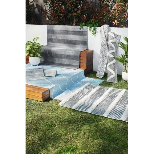 Light Grey Regent Hand-Woven Indoor/Outdoor Rug