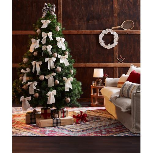 Temple & Webster Cinnamon Cotton-Linen Cushion
