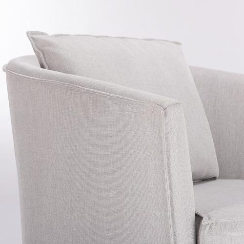 Light Grey Twisty Swivel Armchair