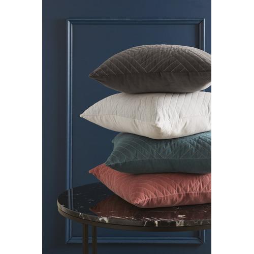 Temple & Webster Pink Abigail  Cotton Velvet Cushion
