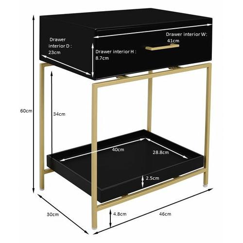 Temple & Webster Rylie Bedside Table