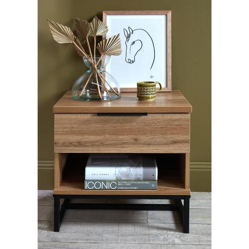 Oak Finish Jackson Bedside Table