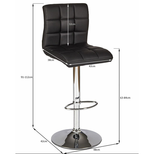 Temple & Webster Martini High Back Swivel Adjustable Barstools