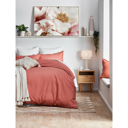 Temple & Webster Clay Organic Cotton Quilt Cover Set
