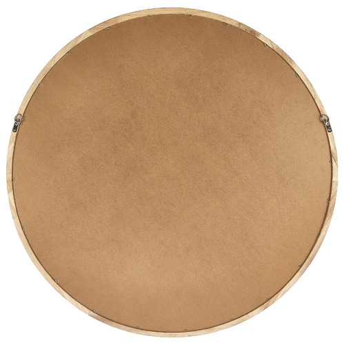 Tate Round Wooden Framed Wall Mirror
