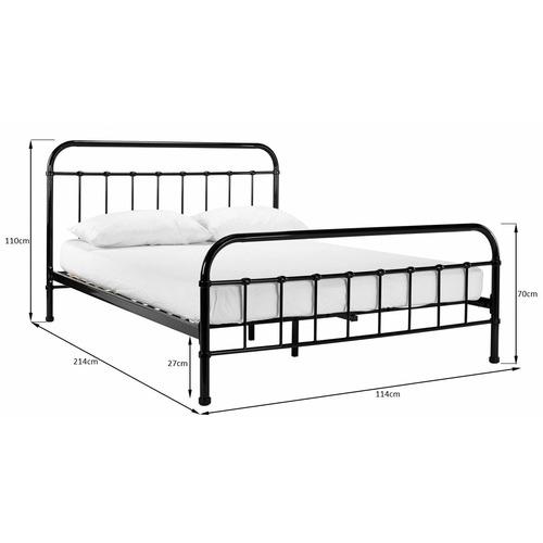Temple Webster Black Bailey Metal Bed, Craigslist Atlanta Queen Bed Frame