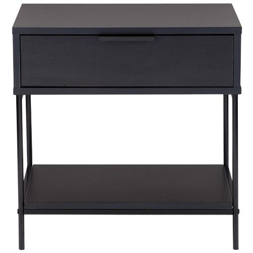 Black Baxter Bedside Table