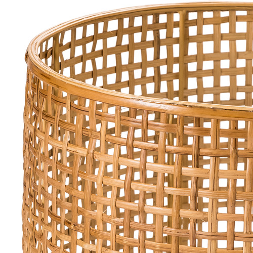 Temple & Webster Natural Woven Rattan Planter on Stand