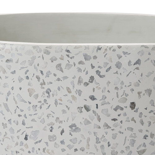 Temple & Webster White Terrazzo Planter on Stand