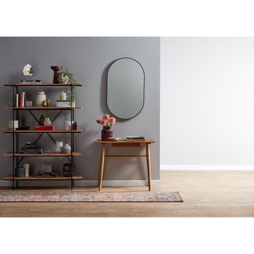 Temple & Webster Tate Oval Metal Framed Wall Mirror