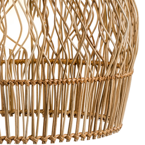 Temple & Webster Archer Rattan Pendant Light