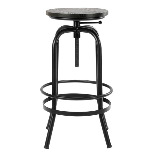Temple & Webster Industrial Elm Wood Adjustable Barstool