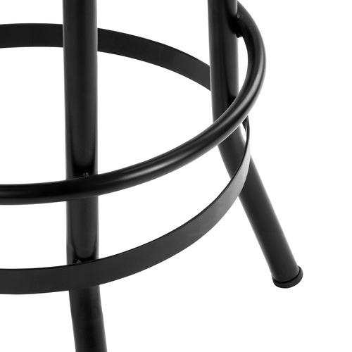 Industrial Adjustable Elm Wood Barstool