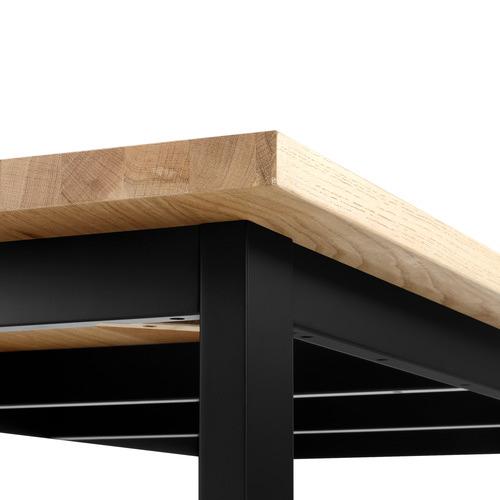 Temple & Webster Black Ski-Leg Dining Table