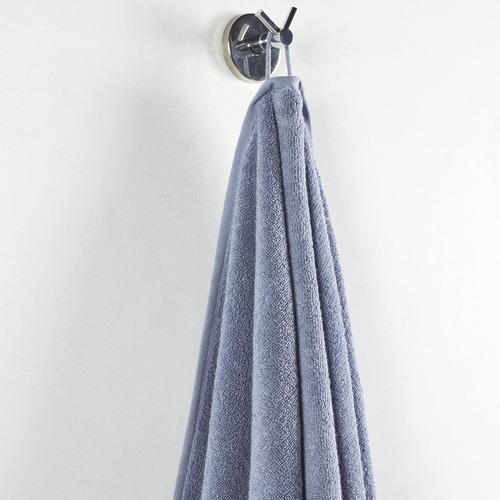 6 Piece Soft Blue Knotted Byron Turkish Cotton Towel Set