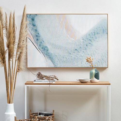 Aerial Sea View Framed Canvas Wall Art