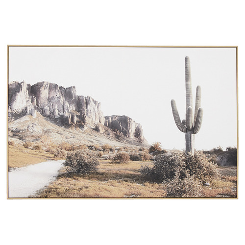 Temple & Webster Cactus Country Framed Canvas Wall Art