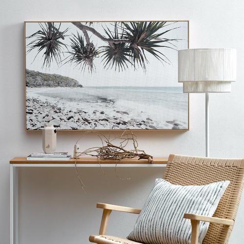 Temple & Webster Noosa Beachscape Framed Canvas Wall Art