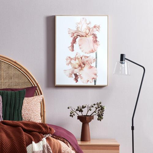 Soft Floral Blush Framed Canvas Wall Art