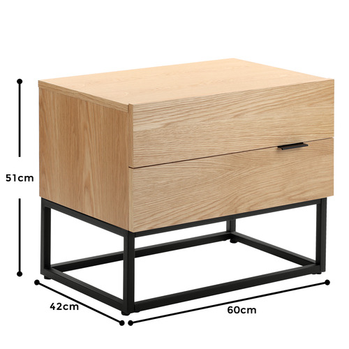 Temple & Webster Emil Bedside Table