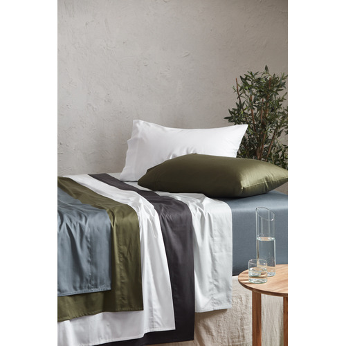 Temple & Webster White Bamboo & Cotton Sheet Set
