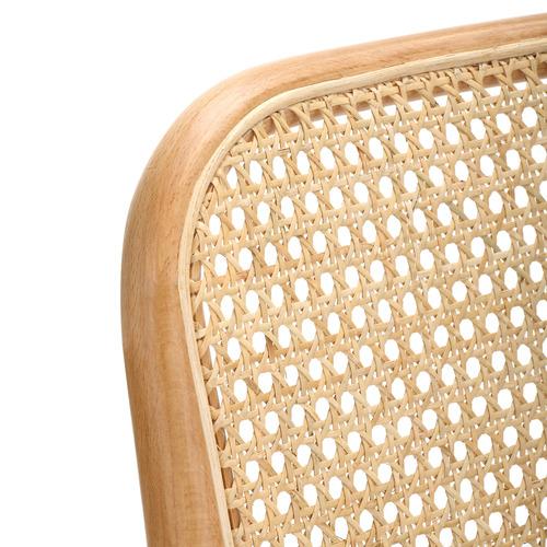 65cm Luca Beech Wood & Rattan Barstool