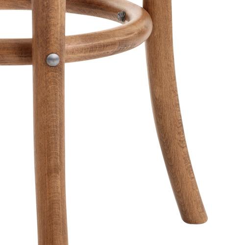 65cm Antique Brown Luca Beech Wood & Rattan Barstool