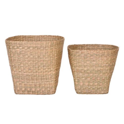 2 Piece Jasper Seagrass Basket Set