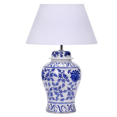 Temple & Webster Blue Ceramic Ginger Jar Table Lamp