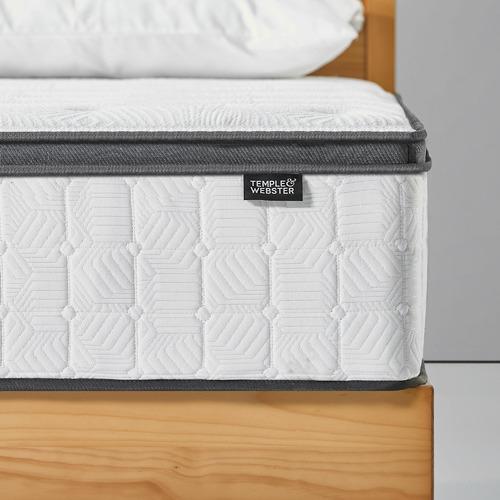 Temple & Webster Luxe Aurora Euro Top Pocket Spring Mattress