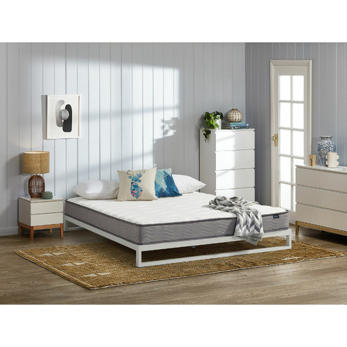 Temple & Webster White Brienne Steel Bed Frame