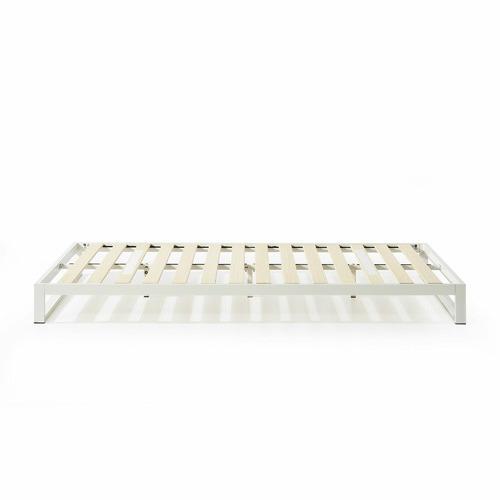 White Brienne Steel Bed Frame