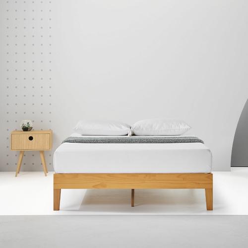 Temple & Webster Natural Beckham Premium Wooden Bed Base