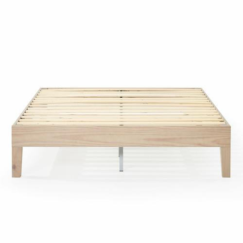 White Wash Beckham Solid Pine Wood Bed Base