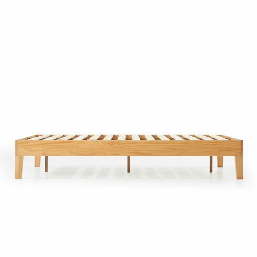 Natural Beckham Solid Pine Wood Bed Base