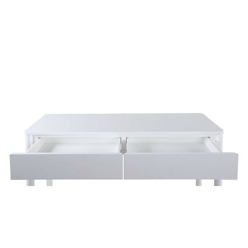 White Roby Console Table