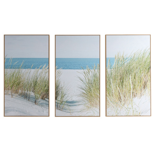 Temple & Webster Secluded Shore Framed Canvas Wall Art Triptych