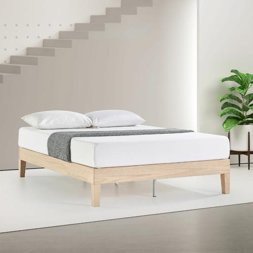 White Wash Beckham Pine Wood Bed Base