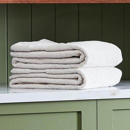 Temple & Webster Oatmeal Grand 800GSM Turkish Cotton Towel Set